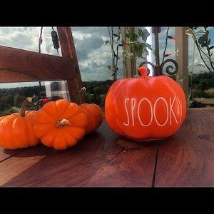"Rae Dunn ""Spooky"" Halloween Pumpkin Decor 🎃 Small"